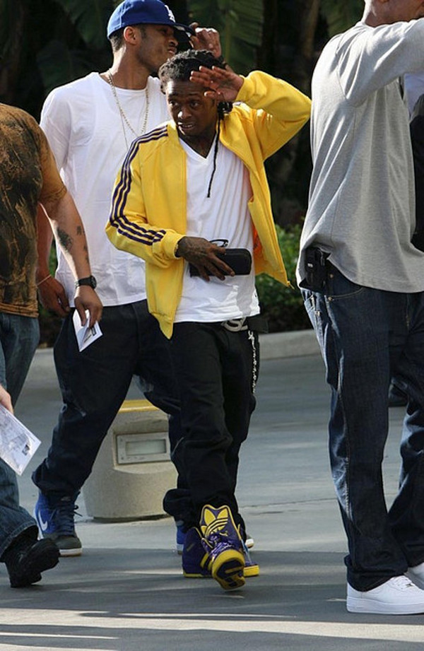 Le best of de Lil Wayne en sneakers Adidas Originals Obyo Jeremy Scott