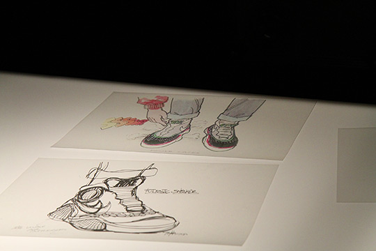 Tinker Hatfield - Croquis de la Nike Air Mag Marty McFly 2011