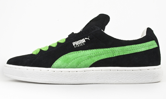 puma suede vert fluo. Black Bedroom Furniture Sets. Home Design Ideas