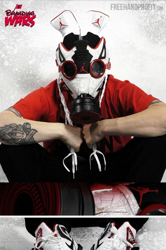 """masque à gaz """"Air Jordan 4 Fusion"""""""