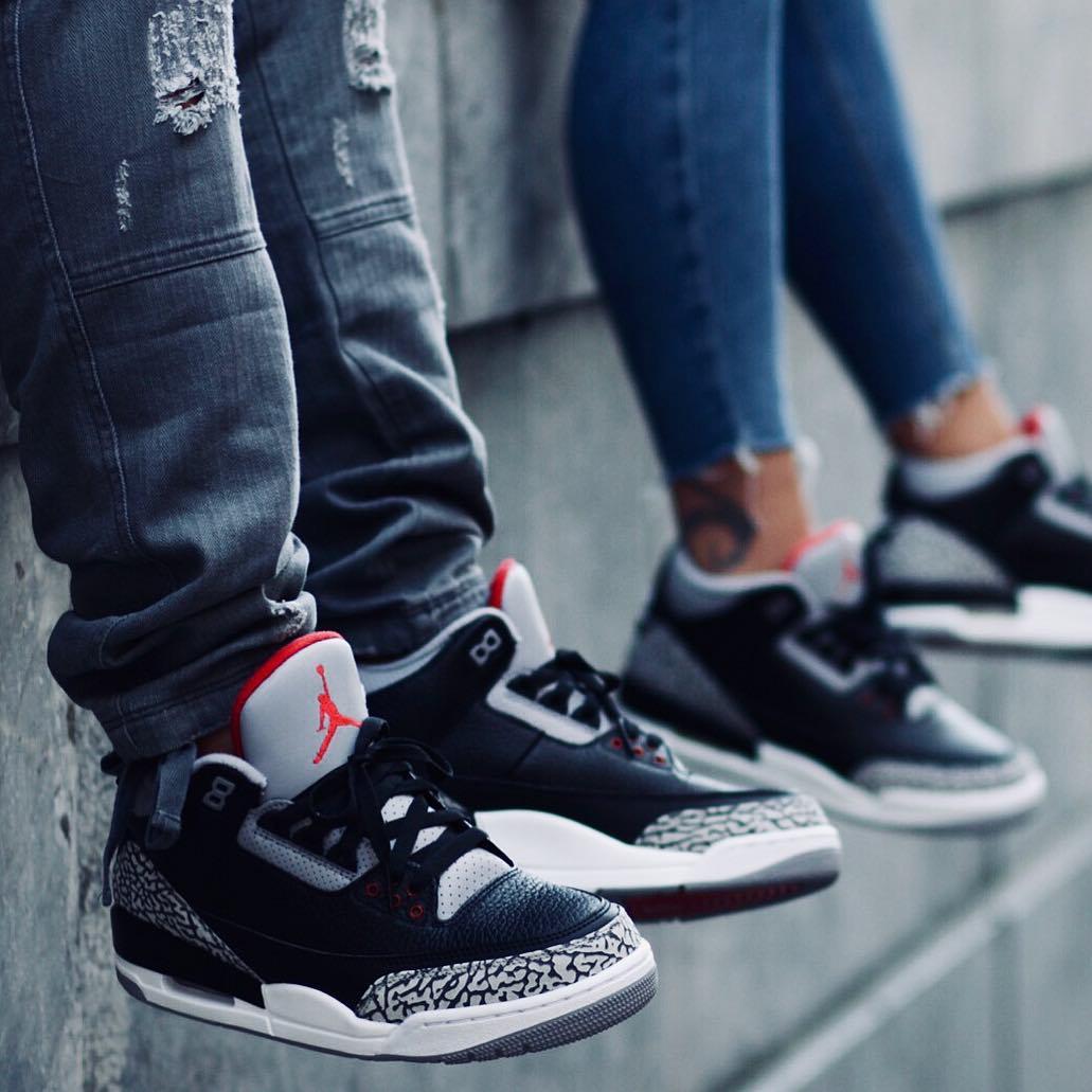 Air Jordan 3 Black Cement toute la famille