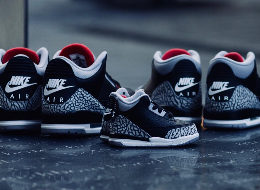 big sale faac7 f4fa0 Avis] Air Jordan 3 Retro OG Noire Black Cement 2018 'Nike ...