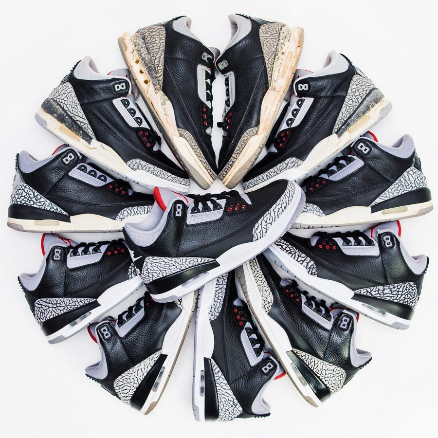 Air Jordan Black Cement 1988, 1994, 2001, 2008, 2011, & 2018 - Dunksrnice