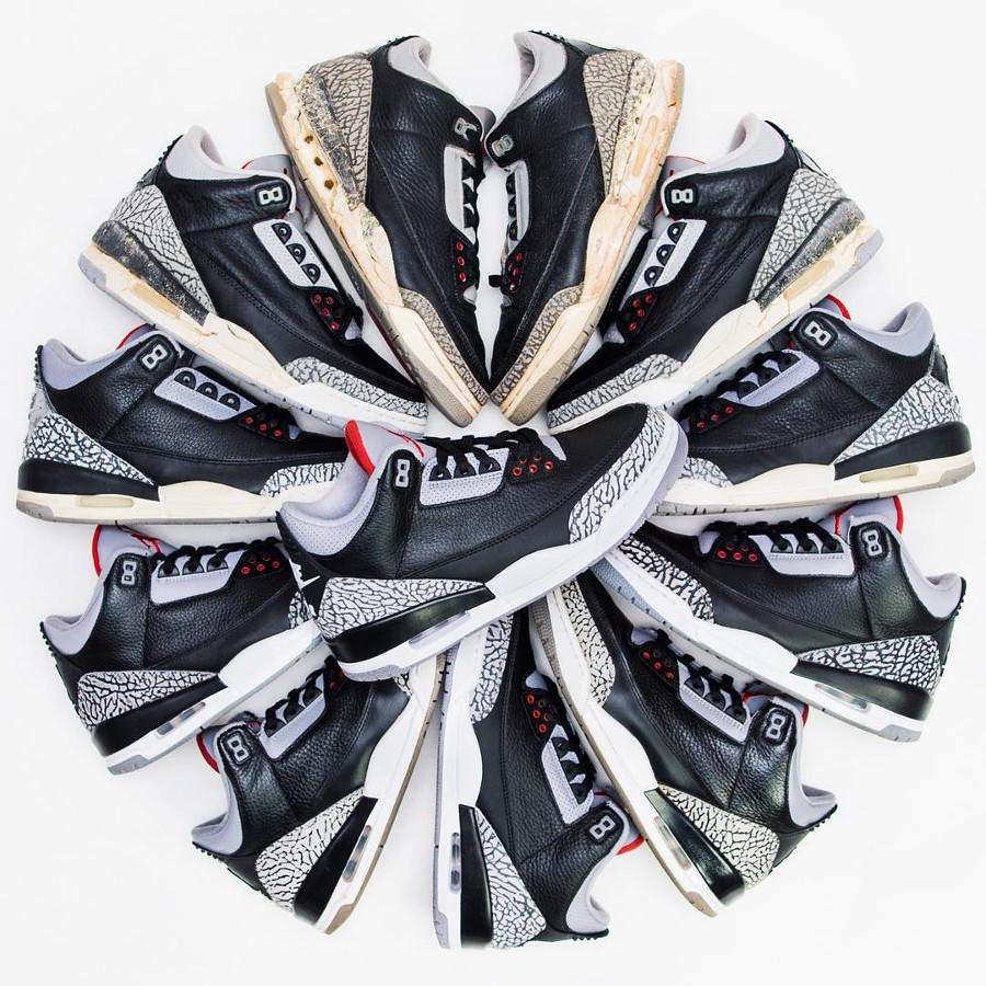 Air Jordan Black Cement 1988, 1994, 2001, 2008, 2011, & 2018 - Dunksrnice