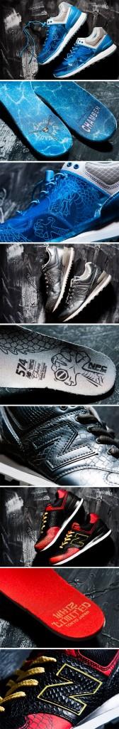 "New Balance 574 x Mita Sneakers ""Dragon"""