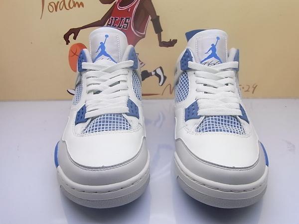 Air Jordan 4 Retro - White / Military Blue