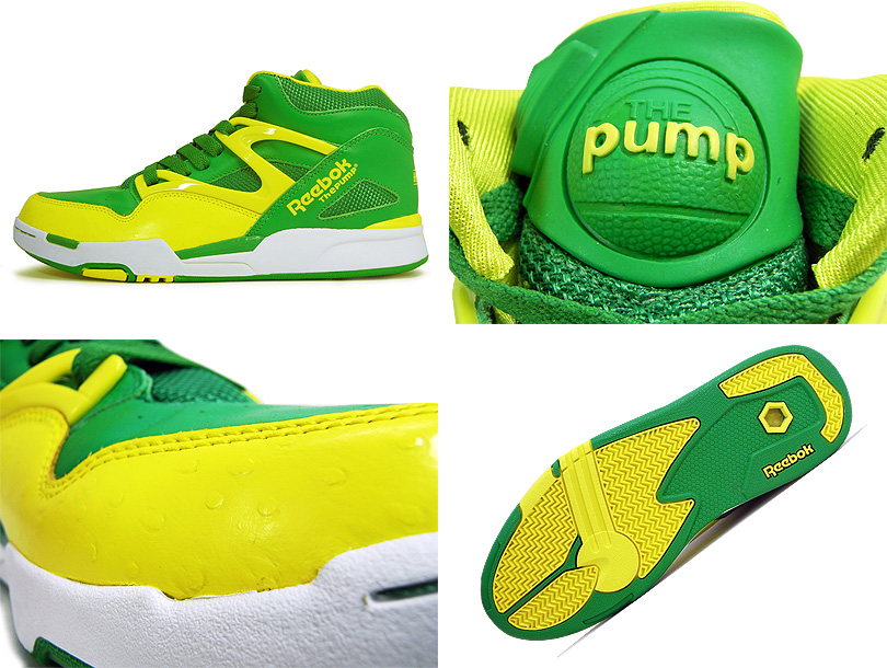 Reebok Pump Omni Lite Yellow Green