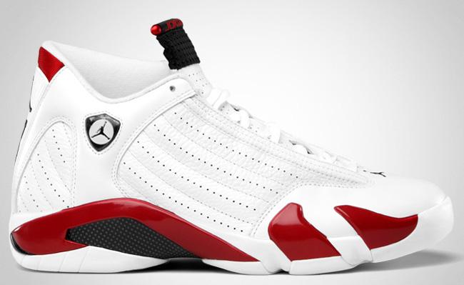 Air Jordan 14 White / Varsity Red