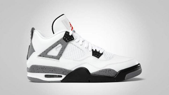 Air Jordan 4 White Black cement grey