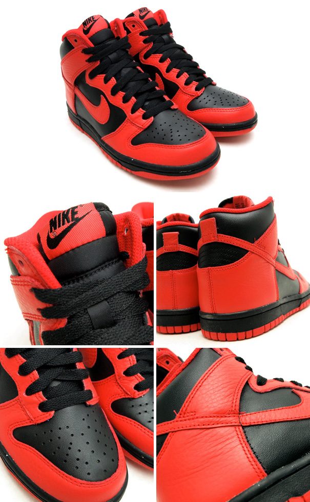 Nike Dunk High Le 08 rouge
