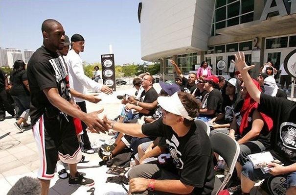 Dwayne Wade en Air Jordan 4