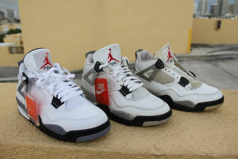 quality design aea0f d5f7a ... Air Jordan 4 White Cement 1989 ...