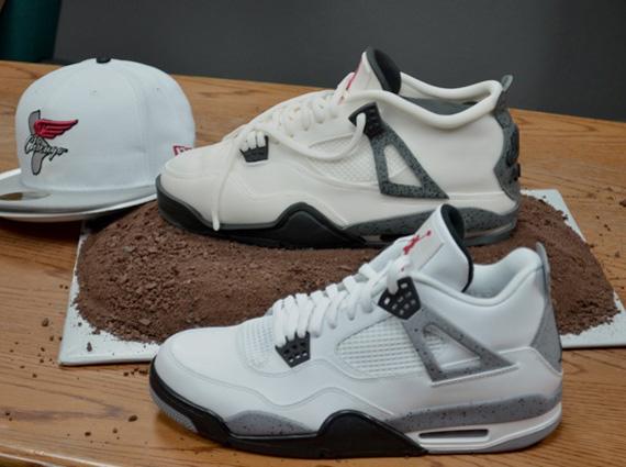 Gâteau Air Jordan 4 White Cement