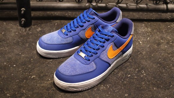 Nike Air Force 1 Storm Blue & Jersey Gold