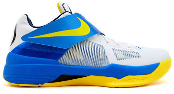 Nike Zoom KD 4 White Tour Yellow