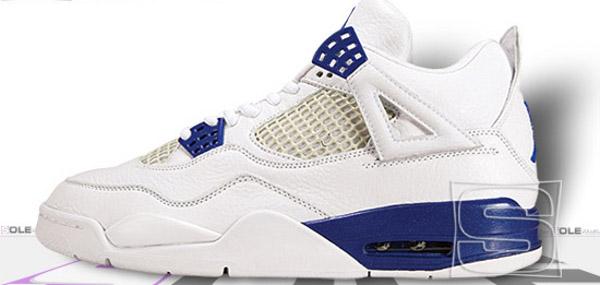 Air Jordan 4 Retro White/Blue