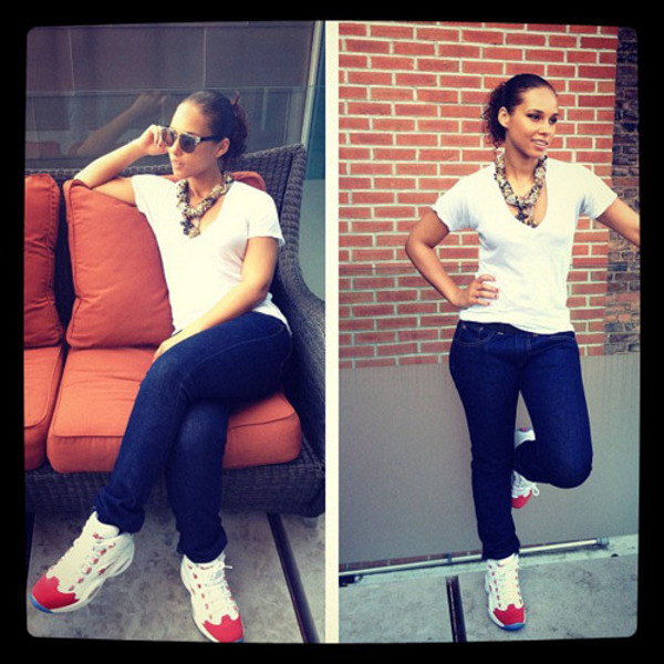 Alicia Keys en Reebok Question