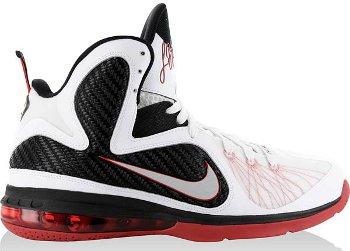 Nike Lebron 9 White Sport Red
