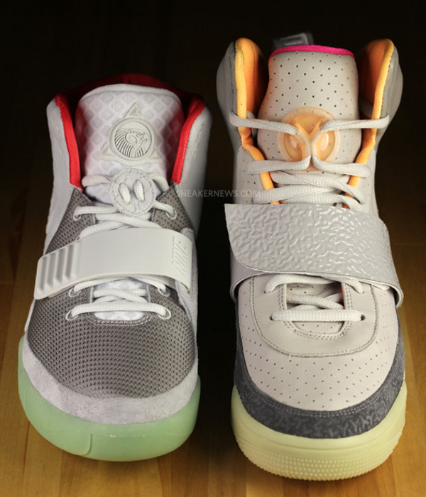 "Nike Air Yeezy ""Zen Grey"" vs. ""Pure Platinum"""