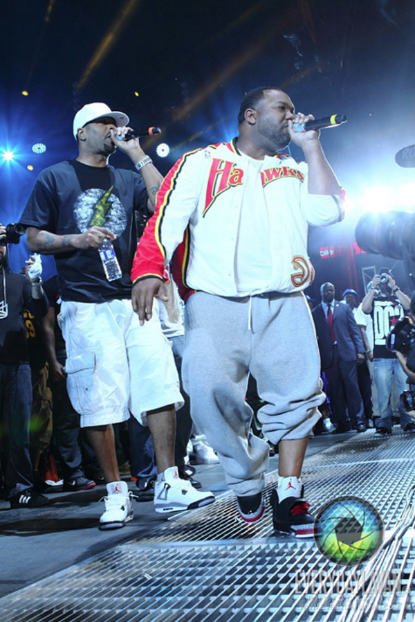 Raekwon en Air Jordan Son Of Mars Bred  & Method Man en Air Jordan 4 White Cement