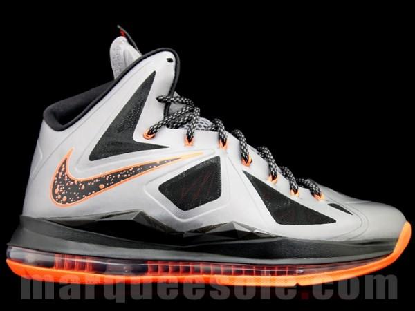Nike Lebron 10 Silver Orange