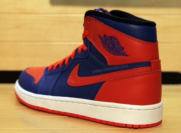 Air Jordan 1 High Bleu Orange Knicks
