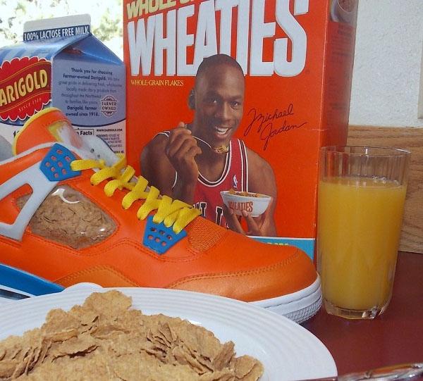 Une Air Jordan 4 s'inspirant de la boîte de céréale Wheaties