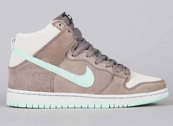 Nike Dunk High Pro Gris & Vert Menthe