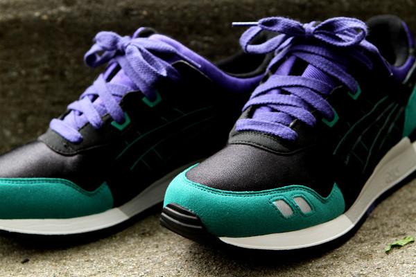 Asics Gel Lyte 3 noir et violet - chaussure