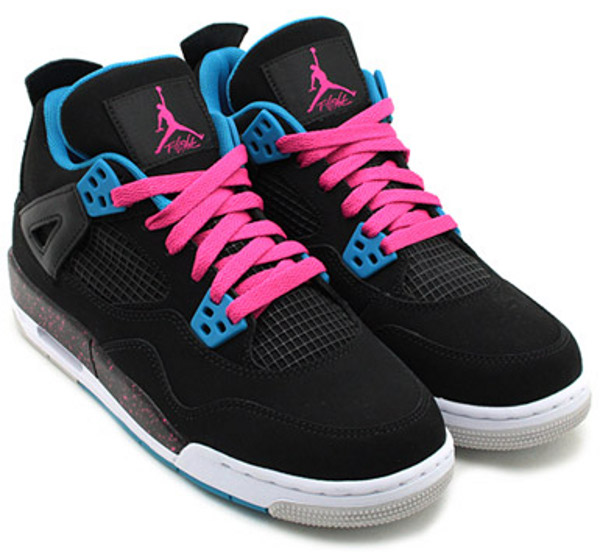 Air Jordan 4 Black Vivid Pink