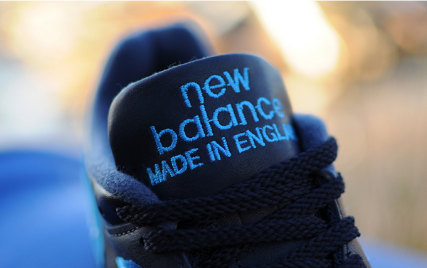 New Balance 1500 Black Leather, Blue suede