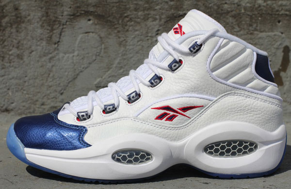 Reebok Question Mid White/Pearlized Navy
