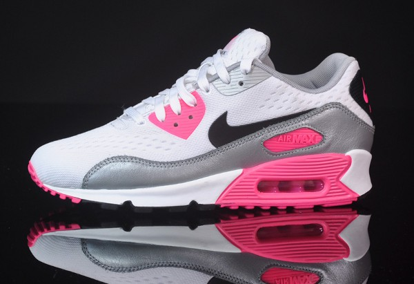 nike air max 90 em pink white pour femme chaussure. Black Bedroom Furniture Sets. Home Design Ideas