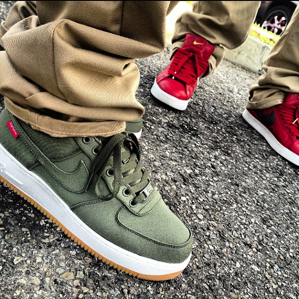 ... Nike Air Force 1 Low x Supreme Olive ...