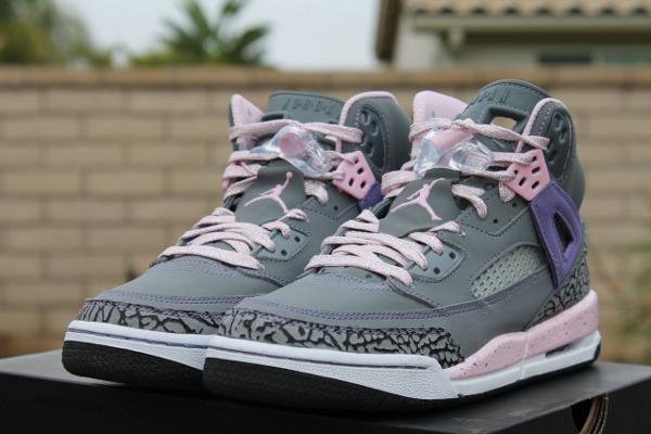 Air Jordan Spizike femme rose et gris