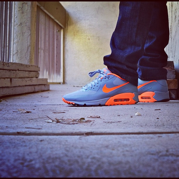 brand new 30493 14977 nike air max 90 stealth orange