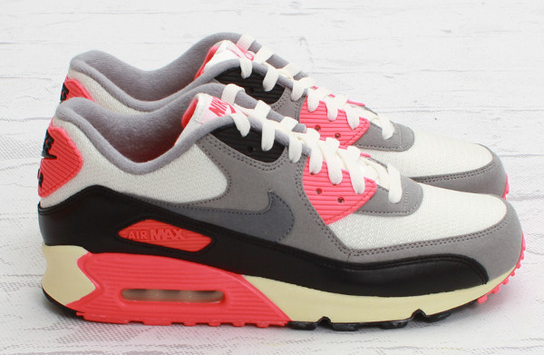 regard détaillé 2bbc7 f1fb6 Nike Air Max 90 Infrared White/Grey Vintage - basket