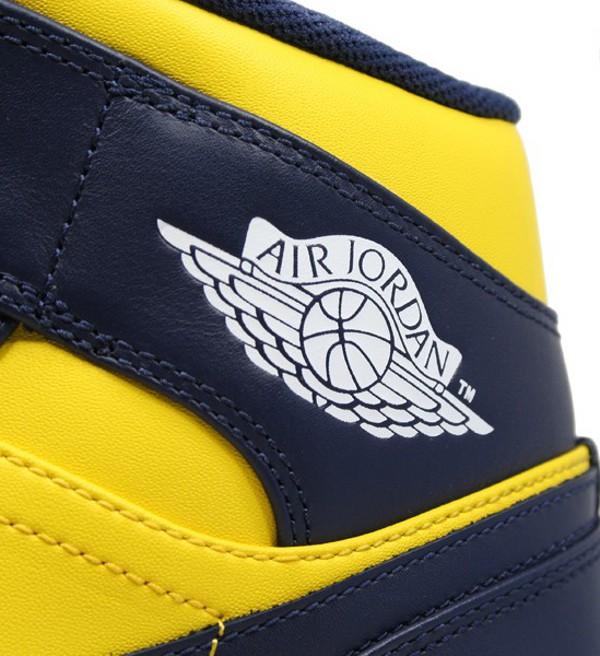 Air Jordan 1 Mid VARSITY MAIZE / MIDNIGHT NAVY - WHITE