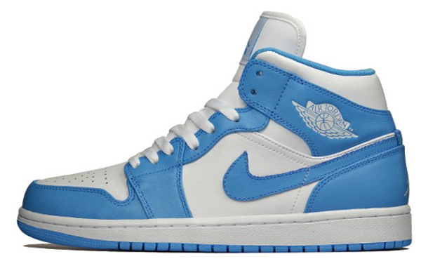 Air Jordan 1 Mid Retro White/University Blue