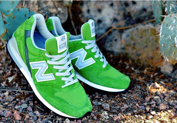 New Balance 996 Green Suede