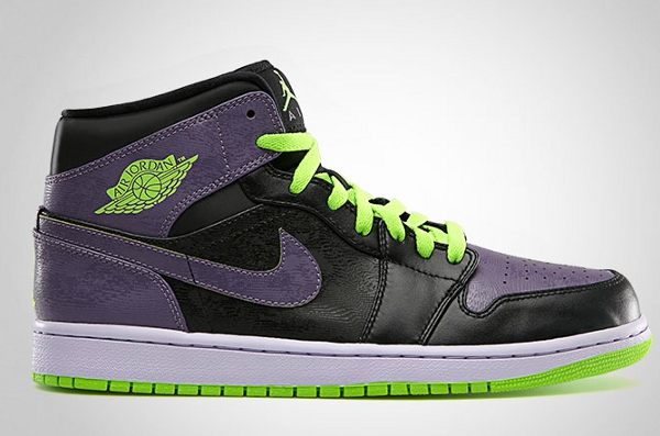 Air Jordan 1 Canyon Purple/Electric Green - Black - Pure Violet