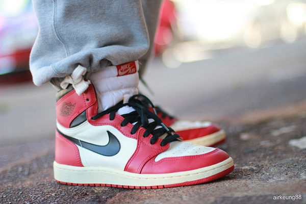 Air Jordan 1 High OG White/Red 1985 - Airkeung88