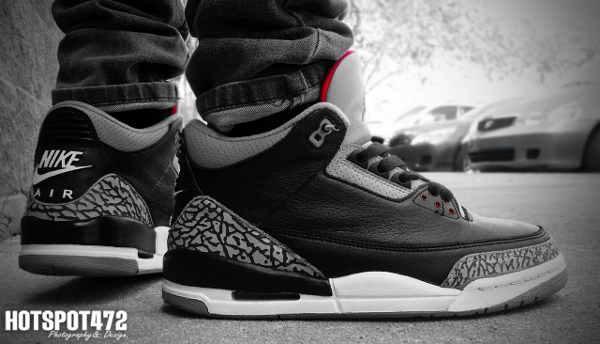 Air Jordan 3 Black Cement - Hotspot472
