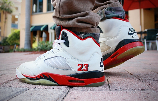 Air Jordan 5 Fire Reds White / Red Black
