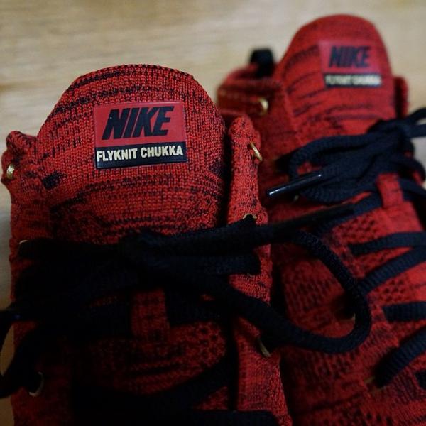 Nike Flyknit Chukka rouge