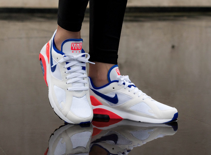 Nike Wmns Air Max 180 OG Ultramarine White Solar Red 2018- chaussure femme (2