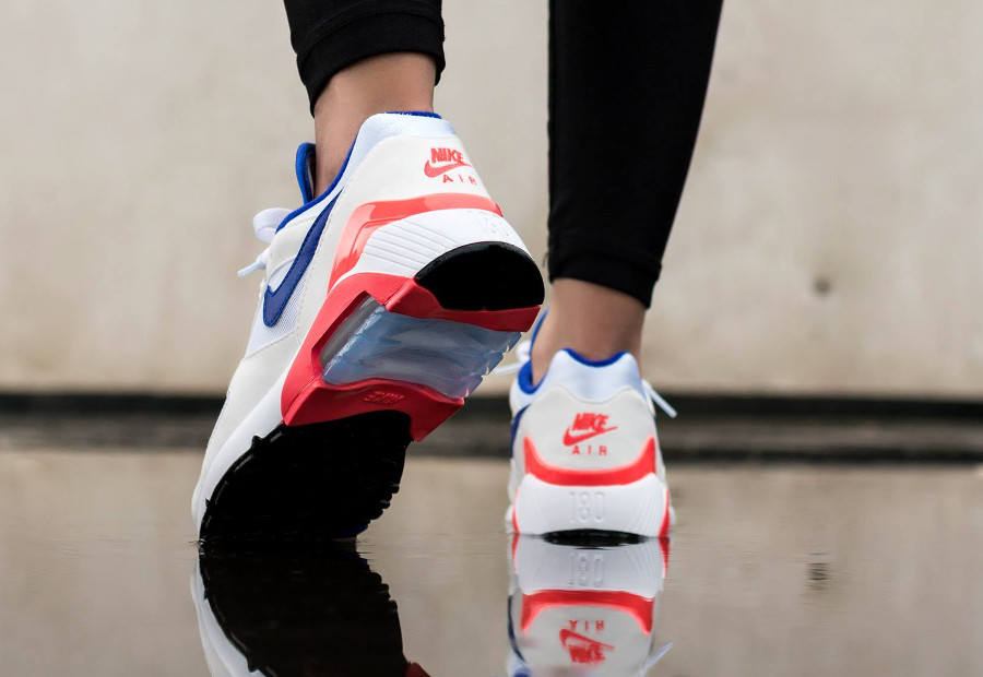 Nike Wmns Air Max 180 OG Ultramarine White Solar Red 2018- chaussure femme (3)