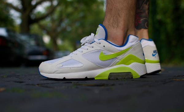 Nike Air 180 White/Lime/Blue - Windrunner82
