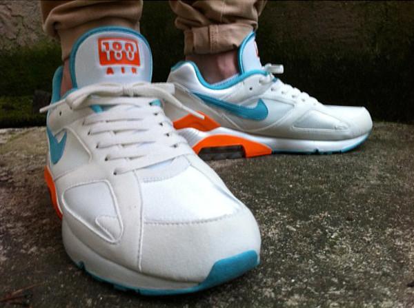 Nike Air 180 White/Teal/Orange - Willkillforkicks