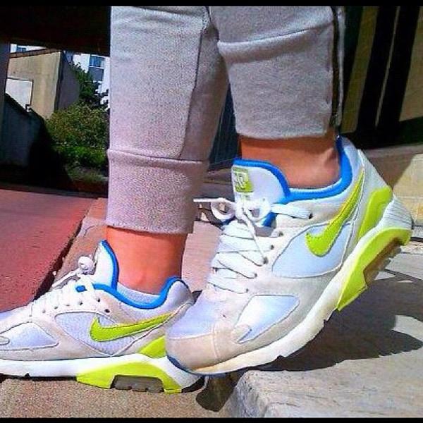 Nike Air 180 White/Lime/Blue - Carloine Puccino